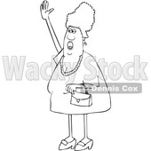 Cartoon Chubby Woman Shouting and Waving © djart #1698756