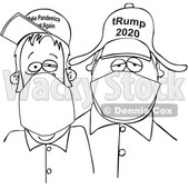 Cartoon Trump Supporters Wearing Face Masks © djart #1705732