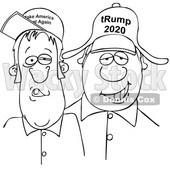 Cartoon Hillbillies Wearing Trump Hats © djart #1705733