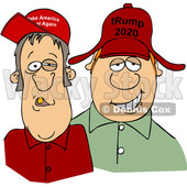Cartoon Hillbillies Wearing Trump Hats © djart #1705743