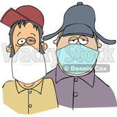 Cartoon Men Wearing Face Masks © djart #1705745