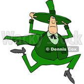 Cartoon Irish Man Running and Holding onto His Hat © djart #1708854