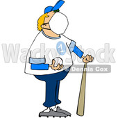 Cartoon Baseball Player Wearing a Mask © djart #1709541