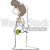 Cartoon Coronavirus Bride Wearing a Mask © djart #1714235