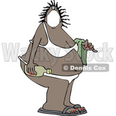 Cartoon Black Woman in a Bikini and Coronavirus Mask © djart #1714418