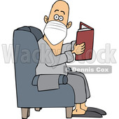Cartoon Man Reading in a Chair and Wearing a Mask © djart #1715740