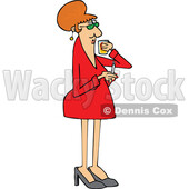 Cartoon Lady Drinking Whiskey and Smoking © djart #1715746