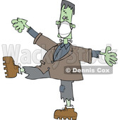 Halloween Frankenstein Wearing a Mask and Dancing © djart #1717068