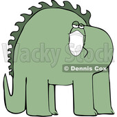 Cartoon Dinosaur Wearing a Covid Mask © djart #1717105