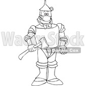 Cartoon Black and White Tin Man Wearing a Mask © djart #1717485