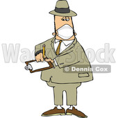 Cartoon Male Inspector Wearing a Mask © djart #1717486