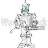 Cartoon Tin Man Wearing a Mask © djart #1717487