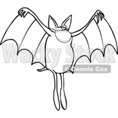 Cartoon Black and White Coronavirus Dog Bat Wearing a Mask © djart #1717597