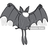 Cartoon Coronavirus Dog Bat Wearing a Mask © djart #1717601