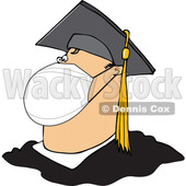 Cartoon Coronavirus Graduate Wearing a Mask © djart #1717672