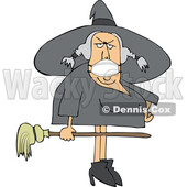 Cartoon Halloween Witch Wearing a Covid Mask © djart #1719471