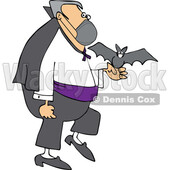 Cartoon Coronavirus Vampire with a Bat and Mask © djart #1719513