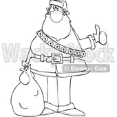 Cartoon Covid Christmas Santa Hitchhiking © djart #1721361