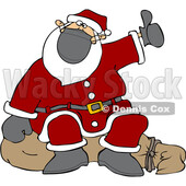 Cartoon Covid Christmas Santa Claus Hitchhiking © djart #1721368