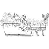 Cartoon Coronavirus Santa and Masked Reindeer © djart #1722025