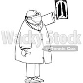 Cartoon Male Doctor or Radiologist Reviewing Xray Imaging © djart #1722569