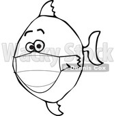 Cartoon Covid Fish Wearing a Mask © djart #1722570