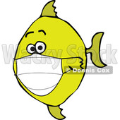 Cartoon Yellow Fish Wearing a Mask © djart #1722575
