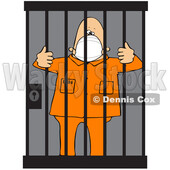 Cartoon Prisoner Wearing a Mask © djart #1724468