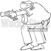 Cartoon Police Man Aiming a Gun © djart #1724652