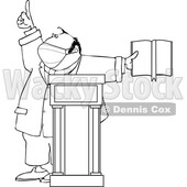 Cartoon Preacher Wearing a Mask © djart #1726965