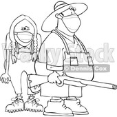 Cartoon Rednecks Wearing Masks © djart #1727739