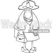 Cartoon Senior Lady Wearing a Mask © djart #1727741