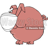 Cartoon Covid Pig Wearing a Mask © djart #1727755