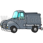 Blue Work Truck With Built In Compartments For Needed Supplies Clipart Illustration © Dennis Cox #17412