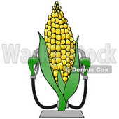 Royalty-free Clipart of a Corn Ethanol Fueling Station with Two Pumps © djart #17530