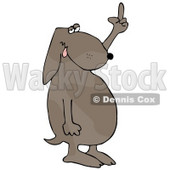 Frustrated Dog Flipping Off His Owner After Not Getting His Daily Walk Clipart Illustration © djart #17613