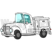 White Work Truck With Built In Compartments For Needed Supplies Clipart Illustration © djart #17620
