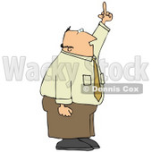 Mad Middle Aged Caucasian Business Man Holding His Hand Up In The Air And Flipping Someone Off Clipart Illustration © Dennis Cox #17622