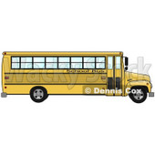 Clipart Illustration of the Side of an Empty Yellow School Bus  © Dennis Cox #17674