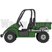 Clipart Illustration of a Dark Green UTV Truck © Dennis Cox #18934