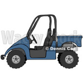 Clipart Illustration of a Boyish Blue UTV Truck © Dennis Cox #18935