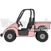 Clipart Illustration of a Girly Pink UTV Truck © Dennis Cox #18936