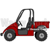 Clipart Illustration of a Bold Red UTV Truck © Dennis Cox #18938