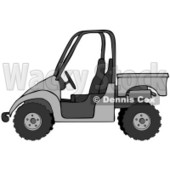Clipart Illustration of a Silver or Gray UTV Truck © Dennis Cox #18939