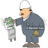 Royalty-Free (RF) Clipart Illustration of a Caucasian Worker Man With An Open First Aid Kit © Dennis Cox #217241