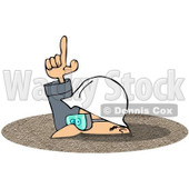 Royalty-Free (RF) Clipart Illustration of a Caucasian Worker Man In A Deep Pile Of Dirt © Dennis Cox #217246