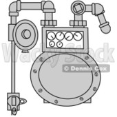Royalty-Free (RF) Clipart Illustration of a Metal Gas Meter © djart #223737