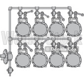 Royalty-Free (RF) Clipart Illustration of a Gas Meter Header - 1 © djart #224974