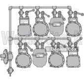 Royalty-Free (RF) Clipart Illustration of a Gas Meter Header - 2 © djart #224976