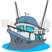 Royalty-Free (RF) Clipart Illustration of a Fishing Trawler Boat © Dennis Cox #226102